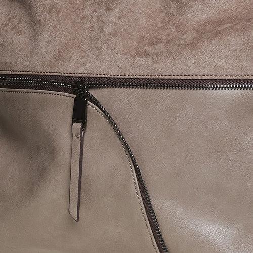 Borsetta da donna con cerniera asimmetrica bata, grigio, 961-2847 - 17