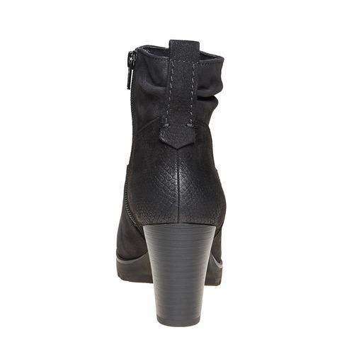 Scarpe di pelle sopra la caviglia bata, nero, 796-6310 - 17