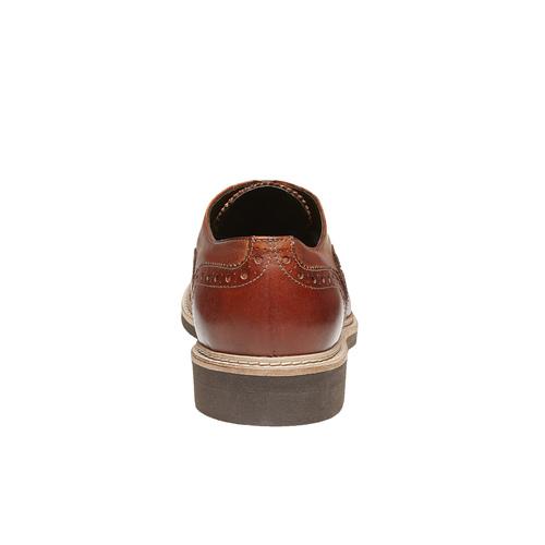 Scarpe di pelle in stile Oxford con decorazione Brogue bata-the-shoemaker, marrone, 824-3184 - 17