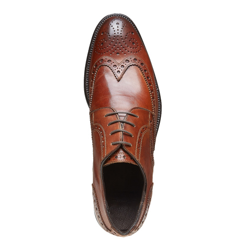 Scarpe basse di pelle con decorazione Brogue bata-the-shoemaker, marrone, 824-3182 - 19