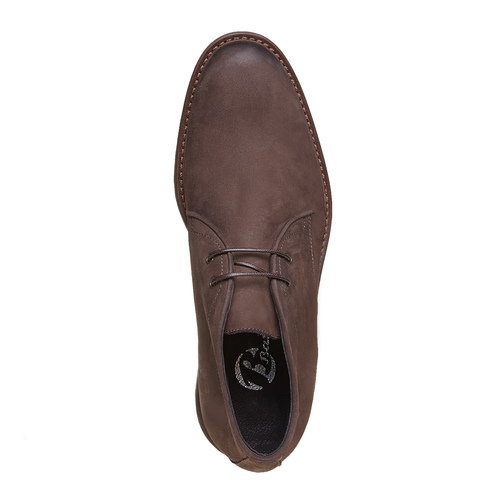 Scarpe da uomo in pelle in stile Desert Boots bata, marrone, 846-4649 - 19