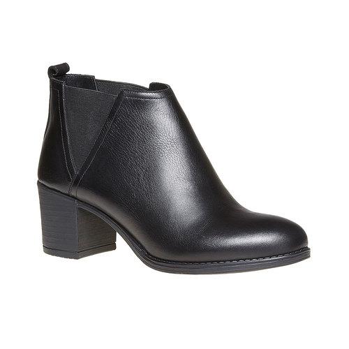 Stivaletti da donna di pelle alla caviglia bata, nero, 694-6384 - 13