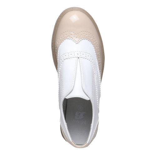 Scarpe basse da bambino in stile Spectator shoes mini-b, rosso, 321-5178 - 19
