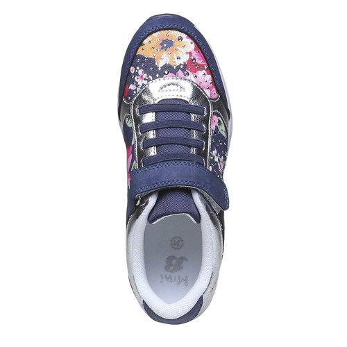 Sneakers da bambino con fiorellini mini-b, viola, 329-9174 - 19