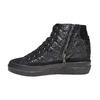Sneakers alla caviglia da donna con cuciture bata, nero, 691-6390 - 19