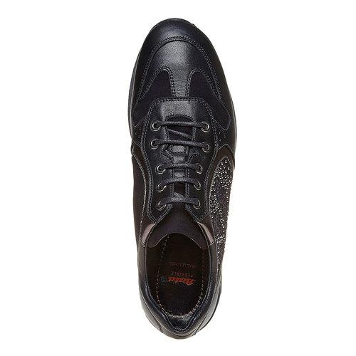 Sneakers in pelle da donna con strass flexible, nero, 524-6223 - 19
