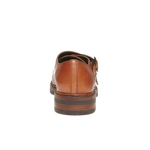 Scarpe da donna in pelle in stile Monk bata, marrone, 514-3250 - 17