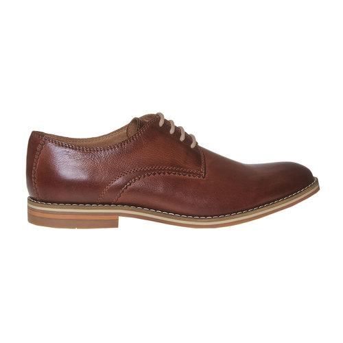 Scarpe basse di pelle in stile Derby bata, marrone, 824-4745 - 15