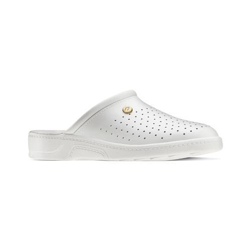 Pantofole da uomo bata-comfit, bianco, 874-1803 - 13