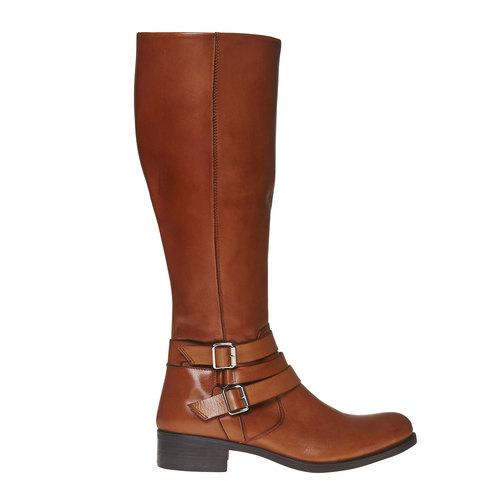 Stivali di pelle con fibbie bata, marrone, 594-3585 - 15