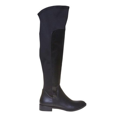 Stivali da donna sopra il ginocchio bata, nero, 591-6513 - 15
