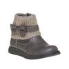 Scarpe da bambino con orlo in tessuto a maglia mini-b, grigio, 291-2154 - 13
