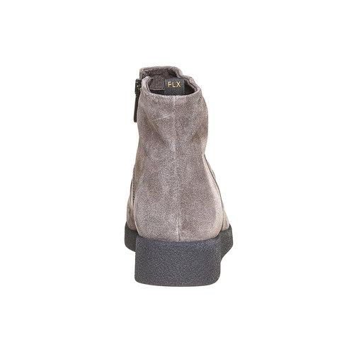 Scarpe di pelle sopra la caviglia flexible, grigio, 593-2577 - 17