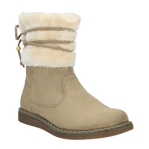 Scarpe invernali da bambino con pelliccia mini-b, marrone, 399-8247 - 13