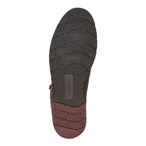 Scarpe di pelle alla caviglia bata, marrone, 894-4630 - 26