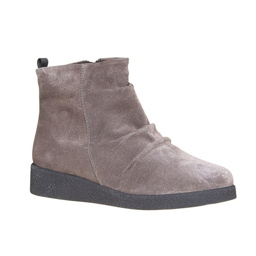 Scarpe di pelle sopra la caviglia flexible, grigio, 593-2577 - 13