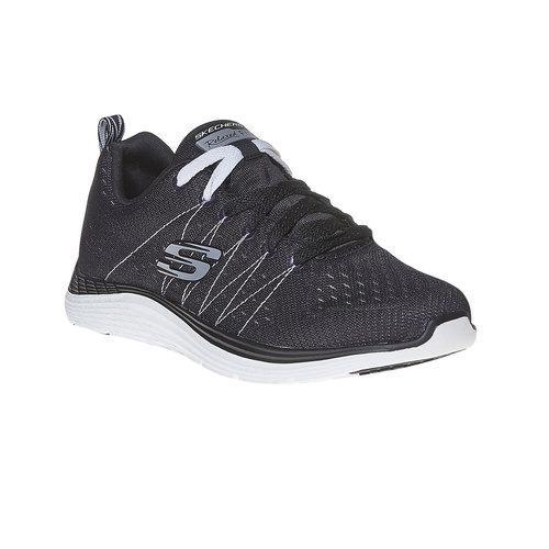 Sneakers da donna con cuciture skechers, nero, 509-6353 - 13