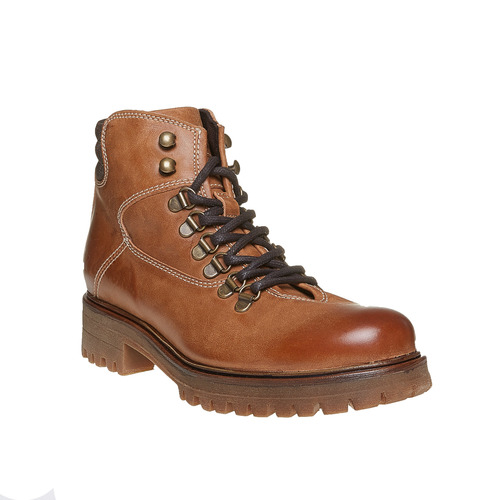 Scarpe di pelle alla caviglia weinbrenner, marrone, 594-3810 - 13