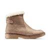 Scarpe alla caviglia con bordo in pelliccia bata, grigio, 599-2997 - 26