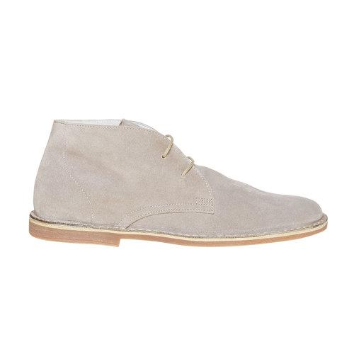 Scarpe scamosciate in stile Desert bata, grigio, 843-2267 - 15