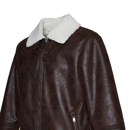 Giacca da uomo con pelliccia bata, marrone, 979-4441 - 16