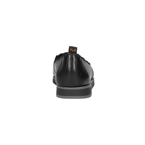 Slip-on da donna di pelle con orlatura flexible, nero, 514-6257 - 17