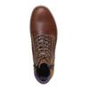Scarpe di pelle alla caviglia bata, marrone, 844-3689 - 19