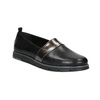 Slip-on da donna di pelle nera flexible, nero, 514-6252 - 13