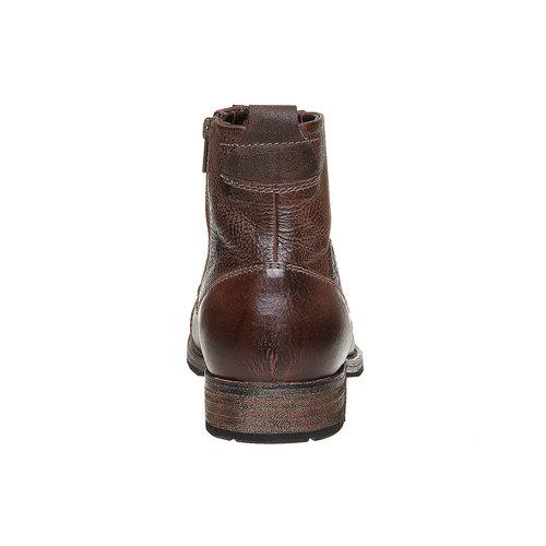 Scarpe di pelle alla caviglia bata, marrone, 894-4518 - 17