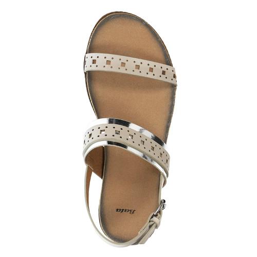 Sandali da donna bata, beige, 561-8294 - 19