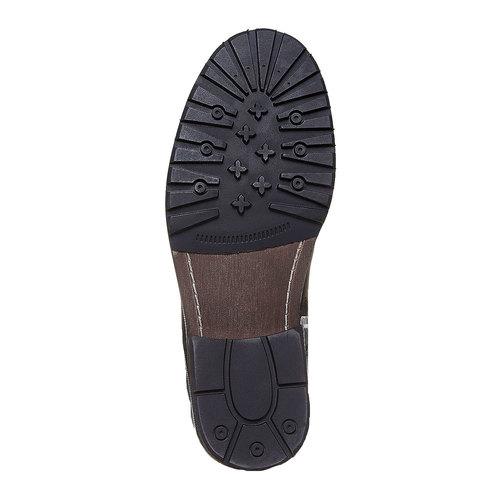 Scarpe alla caviglia da uomo in pelle bata, nero, 894-6518 - 26