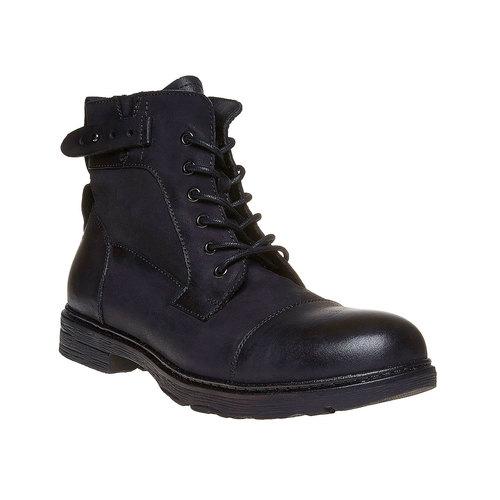 Scarpe da uomo in pelle alla caviglia, nero, 896-6569 - 13