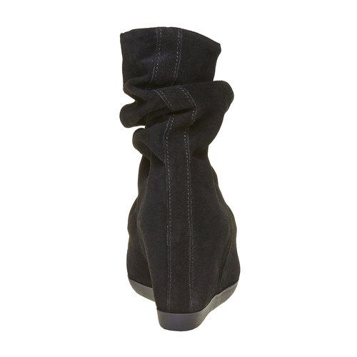 Scarpe da donna in pelle alla caviglia bata, nero, 793-6618 - 17