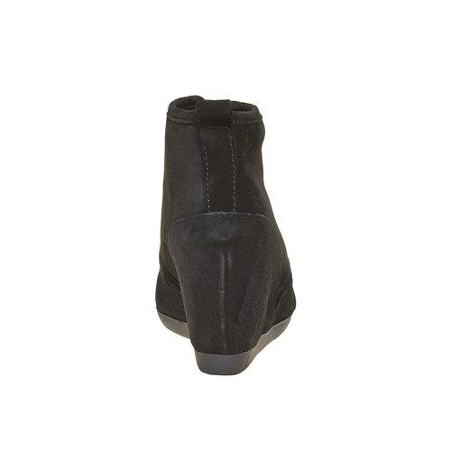 Sneakers di pelle con zeppa bata, nero, 723-6828 - 17