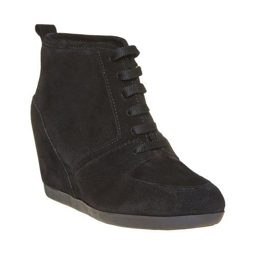 Sneakers di pelle con zeppa bata, nero, 723-6828 - 13