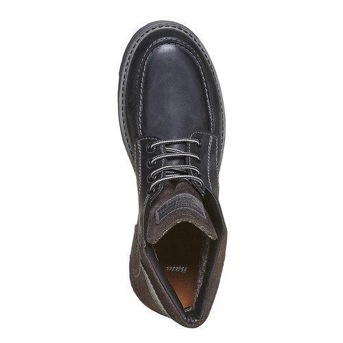 Scarpe di pelle alla caviglia da uomo bata, nero, 896-6687 - 19