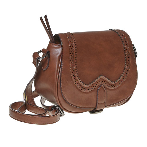 Borsetta Crossbody con perforazioni bata, marrone, 961-3767 - 13
