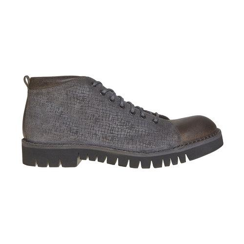 Scarpe in pelle alla caviglia bata, grigio, 894-2519 - 15