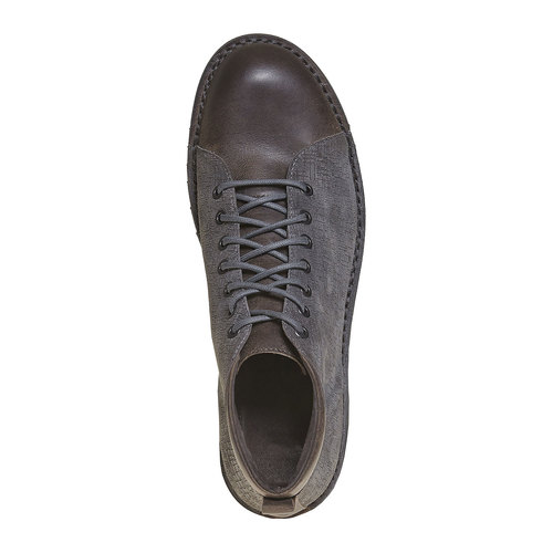 Scarpe in pelle alla caviglia bata, grigio, 894-2519 - 19