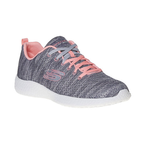 Sneakers da donna con motivo skechers, grigio, 509-2354 - 13