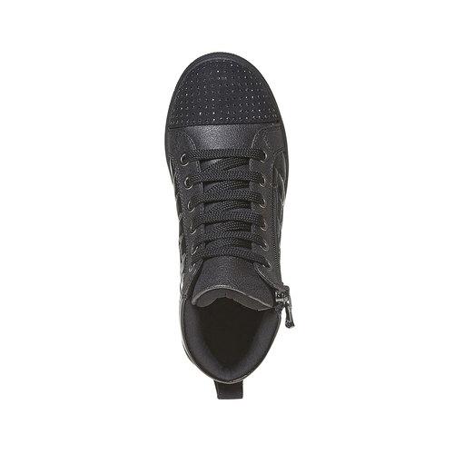 Sneakers lucide con strass mini-b, nero, 321-6165 - 19