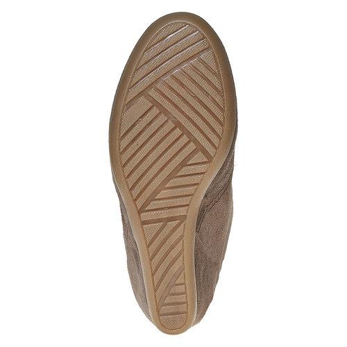 Scarpe in pelle con tacco a zeppa bata, grigio, 723-2828 - 26