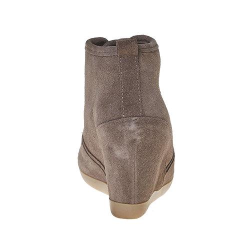 Scarpe in pelle con tacco a zeppa bata, grigio, 723-2828 - 17