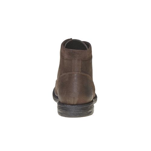 Scarpe di pelle sopra la caviglia da uomo bata, marrone, 896-4704 - 17