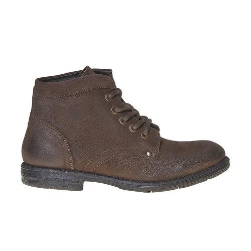 Scarpe di pelle sopra la caviglia da uomo bata, marrone, 896-4704 - 15