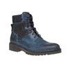 Scarpe da uomo in pelle alla caviglia bata, blu, 894-9634 - 13