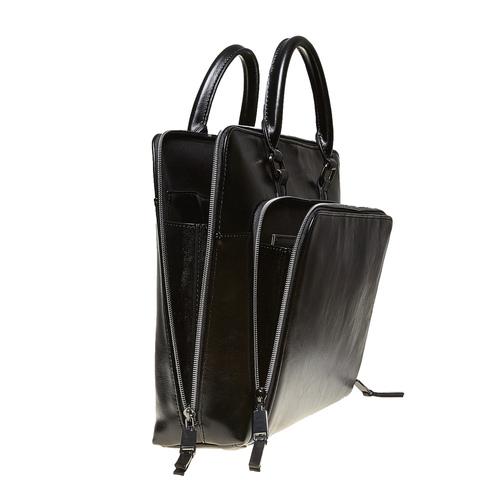Elegante borsa a mano bata, nero, 961-6882 - 17