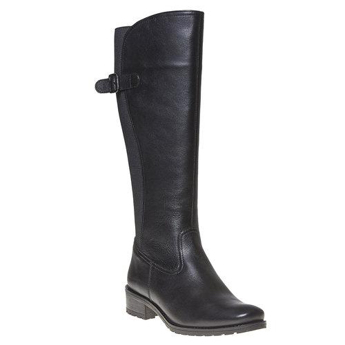 Stivali di pelle con parte flessibile bata, nero, 594-6300 - 13