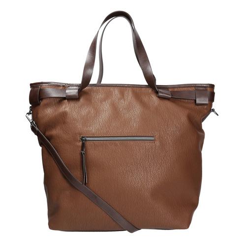Borsetta in stile Tote Bag bata, marrone, 961-3206 - 19