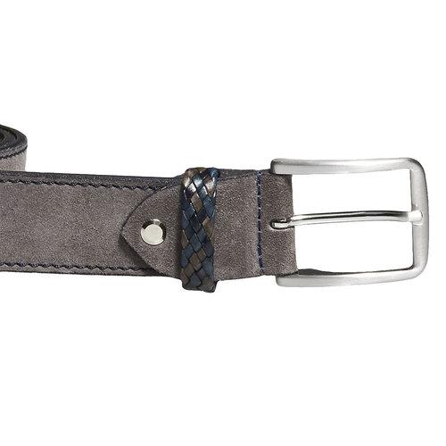 Cintura in pelle da uomo bata, grigio, 953-2102 - 26